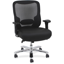 Lorell Big & Tall Mid-back Leather Task Chair
