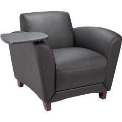Lorell Reception Seating Chair with Tablet