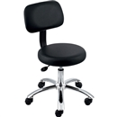 "Lorell 16"" Round Seat Pneumatic Height Stool"