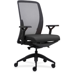 Lorell Executive Mesh Back/Fabric Seat Task Chair - Color Options