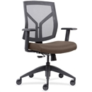 Lorell Mid-Back Chairs wth Mesh Back & Fabric Seat