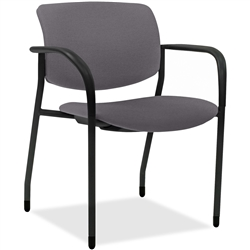 Lorell Stack Chairs with Vinyl Seat & Back - Color Options