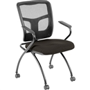 Lorell Mesh Back Fabric Seat Nesting Chairs -Color Options