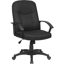 Lorell Executive Fabric Mid-Back Chair - Color Options