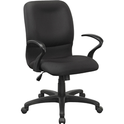 Lorell Executive Mid-Back Fabric Contour Chair