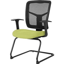 Lorell ErgoMesh Series Mesh Side Arm Guest Chair - Color options