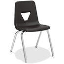 "Lorell 18"" Seat-height Stacking Student Chair - Color Options"