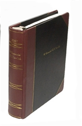 "3-Ring 1 1/2"" Precise Line 1/4 Bind Leather Custom Minute Book Binder, Letter Size"