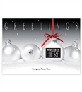 Frosty Display Holiday Greeting Logo Cards