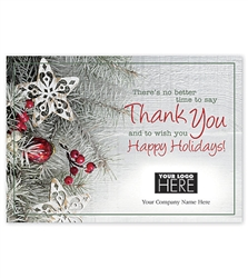 Country Charm Holiday Greeting Thank you Logo Cards