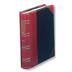 Hylson Minute Book Halfbound Leather