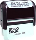 Custom 2000Plus Printer Stamp
