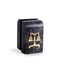 Marble Bookends with Legal Scale Logo