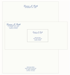 Strathmore Writing Thermographed Print Stationary Package, Letterhead, Envelopes, Business Cards