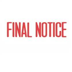 Stock Stamp FINAL NOTICE