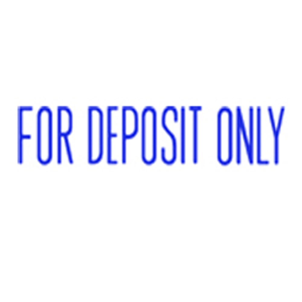 Stock Stamp FOR DEPOSIT ONLY