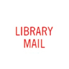 Stock Stamp LIBRARY MAIL
