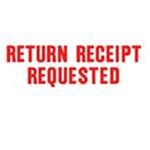 Stock Stamp RETURN RECEIPT REQUESTED