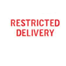 Stock Stamp RESTRICTED DELIVERY