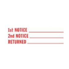 Stock Stamp 1ST NOTICE/2ND NOTICE/RETURNED