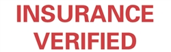 Stock Stamp  INSURANCE VERIFIED