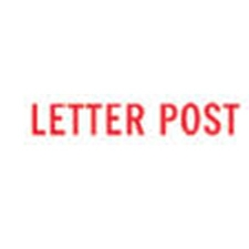 Stock Stamp LETTER POST