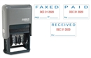 Date Stamp, Self Inking, Faxed, Received, Paid