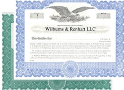 Imprinted Stock Certificates for Limited Liability Companies