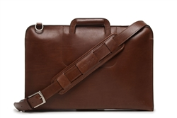 Korchmar Jackson Leather Zippered Briefcase