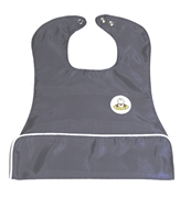 Oversize pocket bib - grey