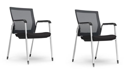 Set of 2 403W iDesk Oroblanco Series Side Chairs by Cherryman