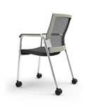 iDesk Oroblanco Mobile Side Chair 403W by Cherryman