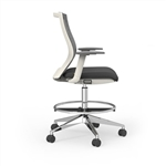 Cherryman Industries iDesk Series 405W Oroblanco Hi Task Drafting Chair