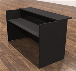 Amber Series Black Cherry Reception Desk Shell by Cherryman
