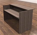 Amber Series A126 Walnut Reception Desk by Cherryman