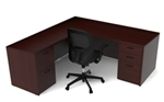 AM-312N Amber Series Rectangular L Shaped Executive Desk by Cherryman