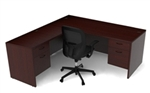 Amber Desk AM-316N with Suspended Pedestals by Cherryman