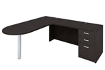 AM-331N Amber L Desk with Bullet Shape by Cherryman