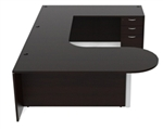 Amber U Shaped Bullet Desk AM-365 by Cherryman