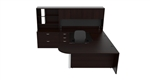 Amber U-Desk Set AM-377 by Cherryman