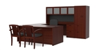 Amber Office Desk Set AM-389N-MAHO by Cherryman