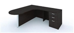 Amber Series Bullet Shaped L Desk AM-395 by Cherryman