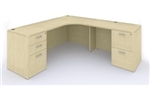 AM-397 Amber Credenza Desk with Storage by Cherryman
