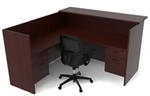 L Shaped Amber Reception Desk AM-401N by Cherryman