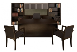 Amber Series Black Cherry Office Furniture Set by Cherryman