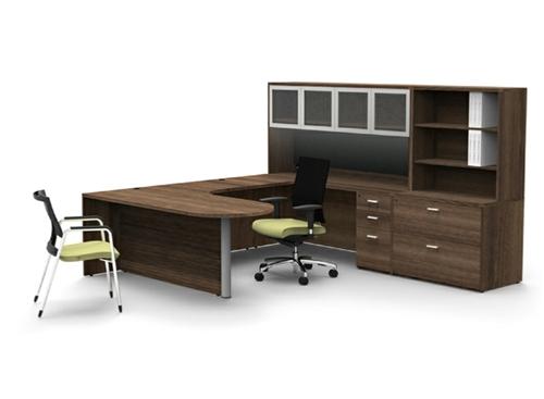 Amber Series Modern U Desk Configuration By Cherryman