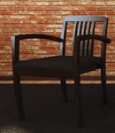 Amber Series Black Cherry Slat Back Wood Guest Chair CHAIR-12