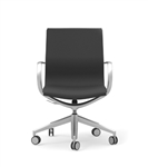 Cherryman iDesk CUR103 Curva Series Mid Back Leather Office Chair