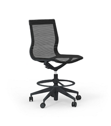 iDesk CUR116 Hi-Task Armless Curva Chair by Cherryman