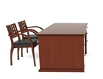 Cherryman Industries Model EM-403N Executive Desk